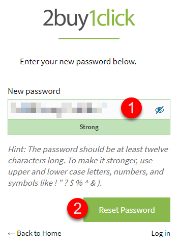 Password Reset - Fourth Step